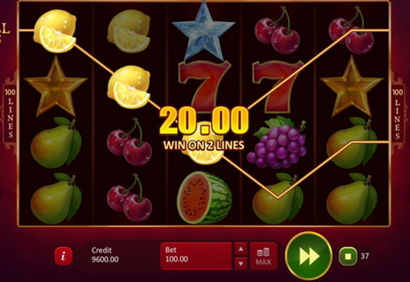 Check out a winning roll in Imperial Fruits: 100 Lines slot.