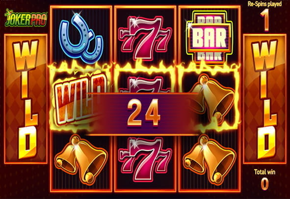 Joker Pro online slot in-game view