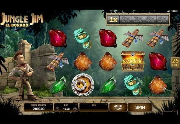 Play Jungle Jim El Dorado here for free