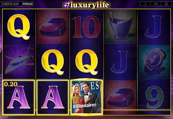 Luxury Life online slot during the game.