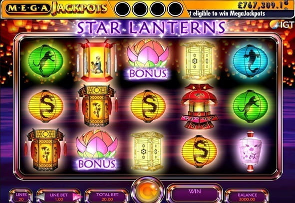 Play Mega Jackpots Star Lanterns  here for free