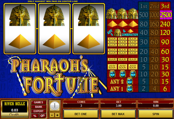 Pharaoh's Fortune 20 lines IGT Slot Free Play