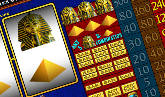 Play the epic Egyptian slot Pharaoh's Fortune with 20 pay lines