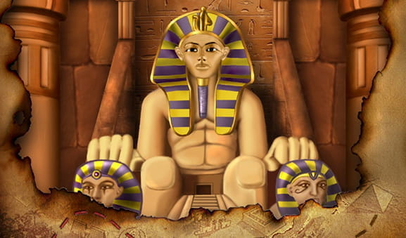 The Egyptian-themed Pharaoh's Treasure slot from PlayPearls.