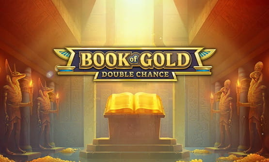 The opening screen of Book of Gold: Double Chance