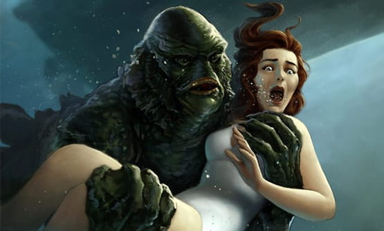 Creature from the Black Lagoon characters.