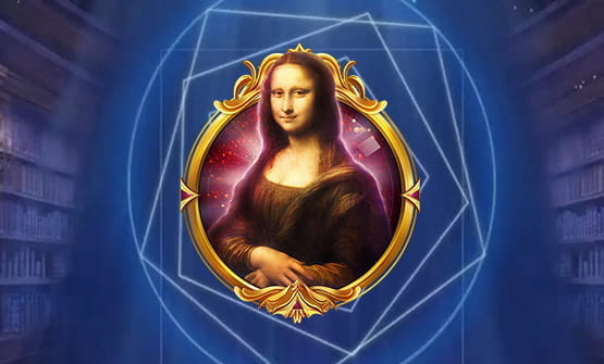 Image of the Mona Lisa from the Da Vinci's Mystery online slot.
