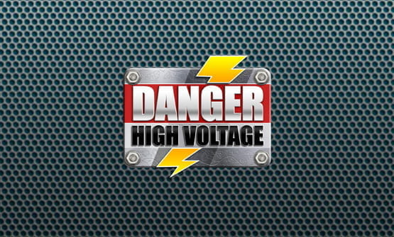 The Danger! High Voltage online slot logo.