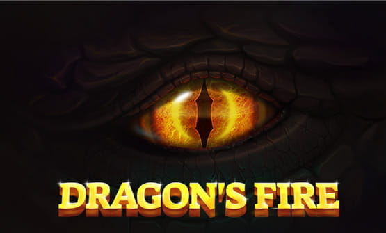 Game logo of Dragon's Fire from Red Tiger Gaming.