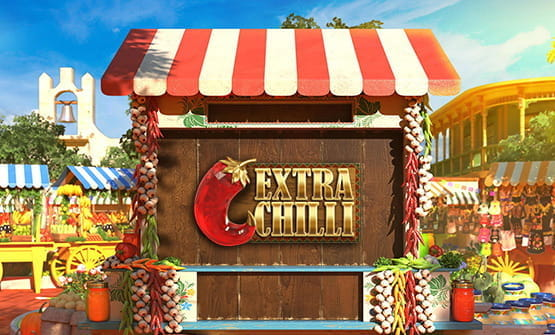 The Extra Chili slot game opening screen.