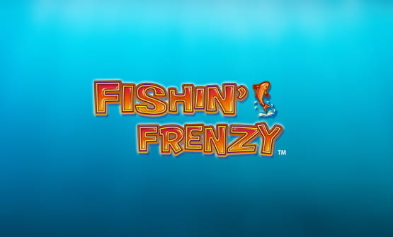 The Fishin' Frenzy online slot logo.