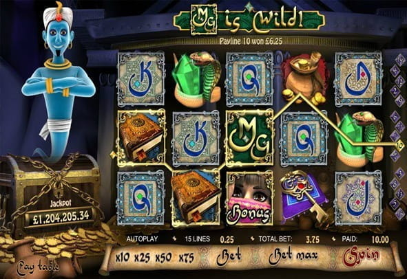 Play the slot for free here - online demo player for Millionaire Genie