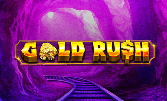 The Gold Rush online slot logo.
