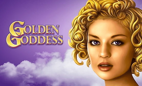 Opening screen of the Golden Goddess online slot game