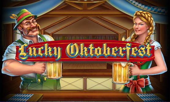 Opening screen and logo of the slot Lucky Oktoberfest.