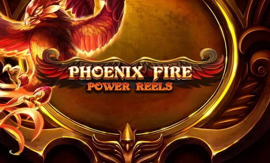 Game logo of Phoenix Fire Power Reels by Red Tiger Gaming.