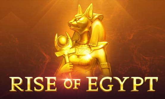 Rise of Egypt online slot opening screen.