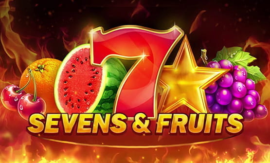 Logo of the Sevens & Fruits online slot from Playson.