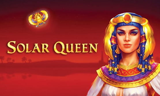 Logo of the Solar Queen online slot game.