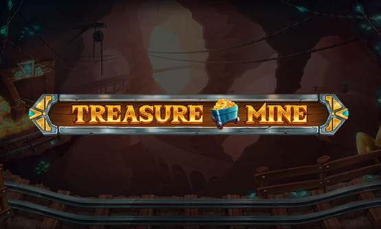 Logo of the online slot Treasure Mine.