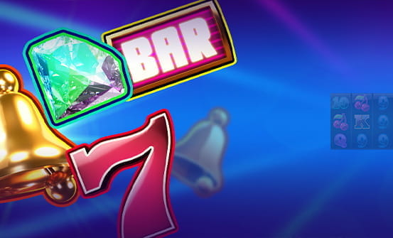 Twin Spin online slot opening screen with the 7 and the Bar symbol