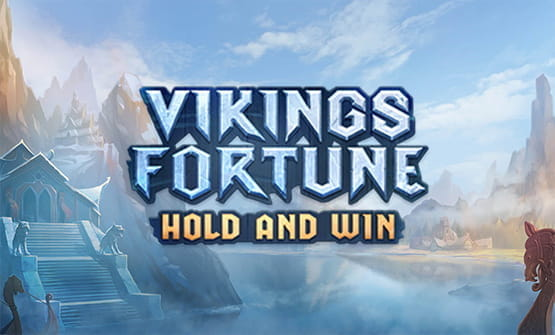Vikings Fortune: Hold and Win online slot game logo.