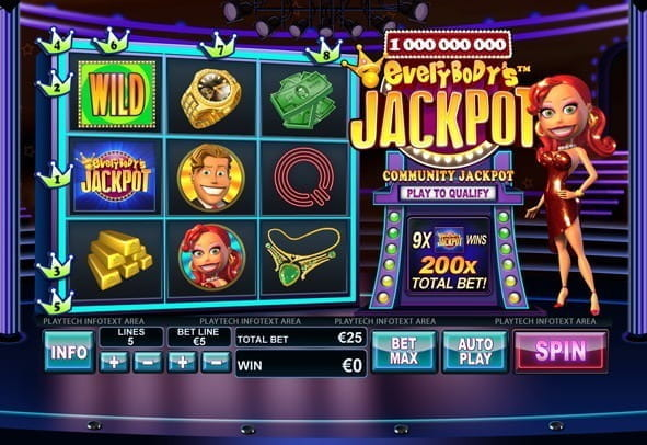 Check out Everybody's Jackpot for real money at our top casino pick