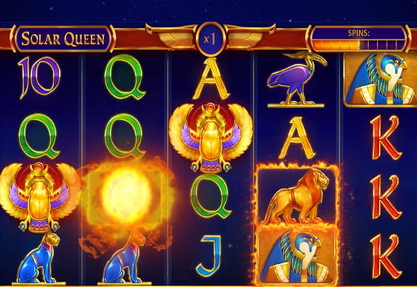 The exciting Solar Queen online gameplay.