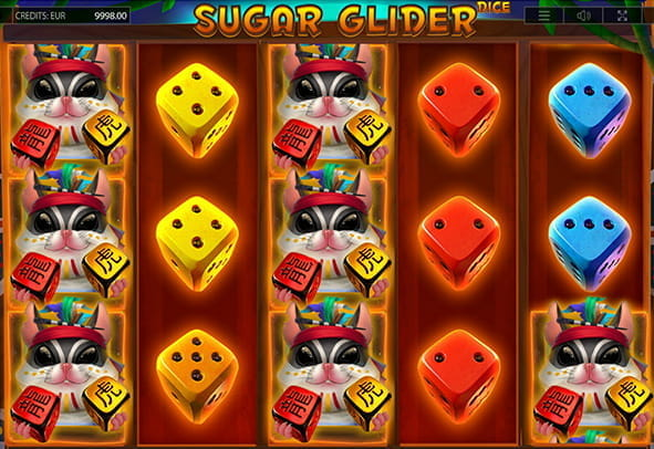 Sugar Glider Dice online slot during a game.