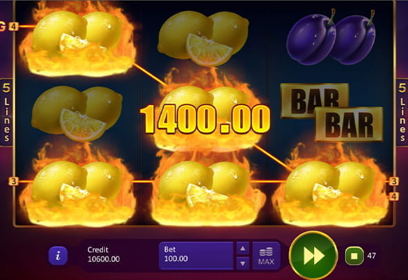 Check out gameplay from Super Burning Wins: Classic 5 Lines online.