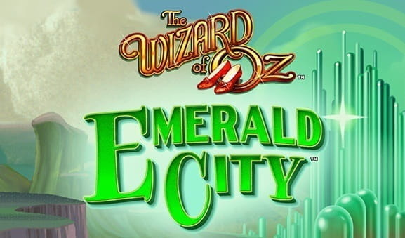Opening screen of The Wizard of Oz Road to Emerald City Slot from Scientific Games