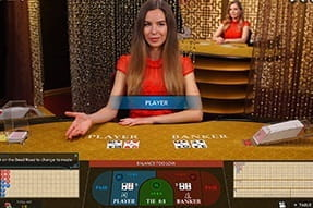 Preview of Live Baccarat Game at InterCasino