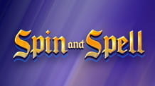 The Spin and Spell slot logo from BGaming