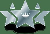 Étoile avec icône couronne