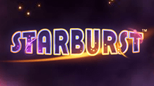 Promotional image of starburst slot from Netent