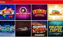 Various slot games available at The Sun Bingo.