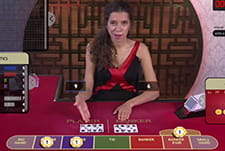Super Six Baccarat gameplay at Intertops online casino.