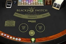 Switch Blackjack style provided by PlayTech at SuperCasino