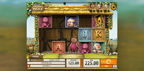 Image showing the Big Bad Wolf slot with Swooping Reels feature