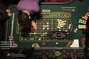 A Hippodrome Grand roulette game at the Unibet live casino.