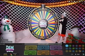 The Dream Catcher game at the Unibet live casino.