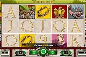 Image of the Victorious slot game on a mobile device.