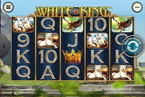 The White King slot game available on the William Hill casino mobile app.
