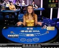 Casino Hold'em at William Hill live casino.