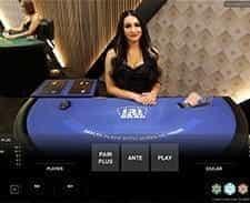 Three Card Brag at William Hill live casino.