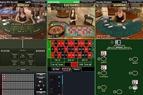 Multiple live games at the same time at William Hill.