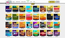 There are a lot of slot games available at Wink Bingo