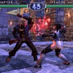A screenshot of the Soulcalibur II video game