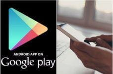 The Google Play store on Android