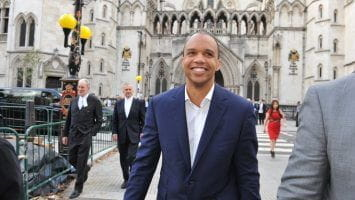 Phil Ivey arriving at Court.